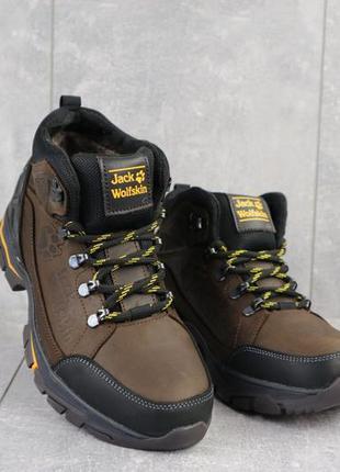 Мужские зимние ботинки из натуральной кожи and 132 -6 jack wolf