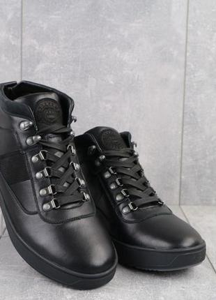 Мужские зимние ботинки из натуральной кожи norman 198