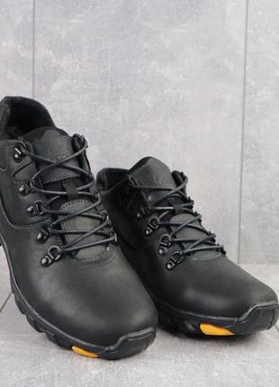 Мужские зимние ботинки из натуральной кожи yuves 501