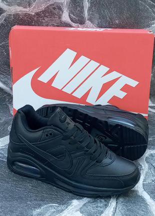 Качественные подростковые кроссовки nike air max 90 кожаные,че...