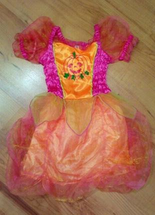 Карнавальный костюм платье на хэллоуин тыква