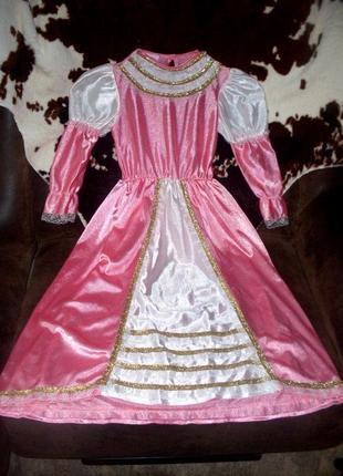 Красивое маскарадное платье для принцессы ростом 116 см