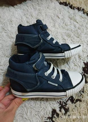 Текстильные высокие кеды хайтопы кроссовки ботинки roco 27 раз...