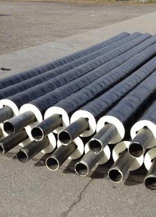 Трубы предизолированные стальные в ПЕ/СПИРО оболочке