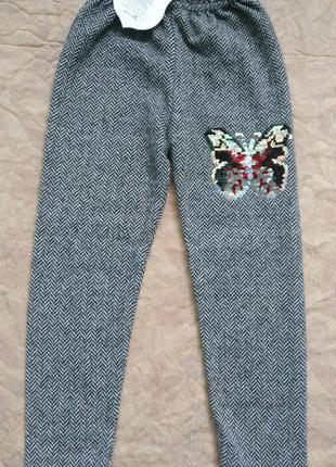 Новые Штаны леггинсы брюки теплые р.98 3-4 года Basak Bebe Tурция