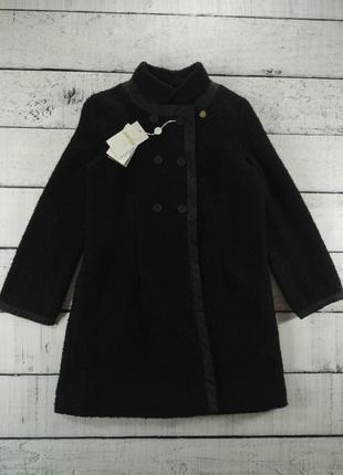 Пальто черное буклированное короткое just r