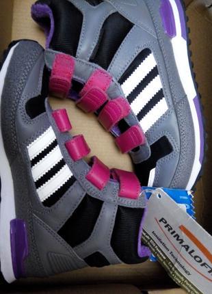 Оригинал Adidas натуральная кожа на липучке Ботинки детские