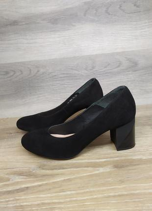 Замшевые туфли на каблуке - натуральная замша , 37 38 40 41  р...