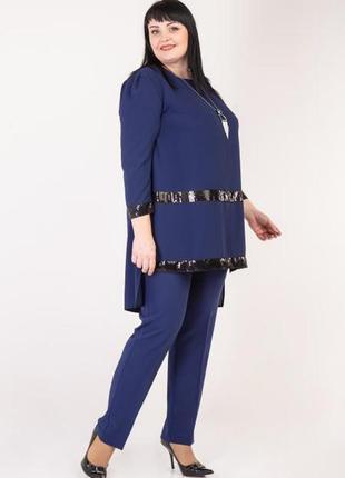 Женский брючный костюм праздничного назначения, код 1005м