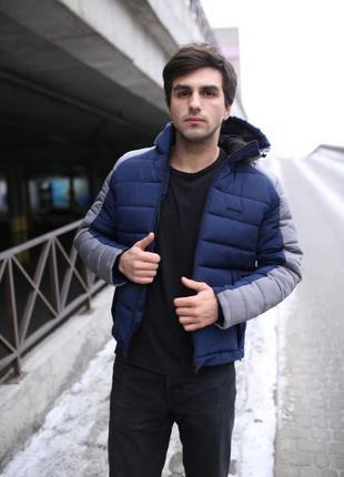 Зимняя куртка intruder impression синяя тёплая