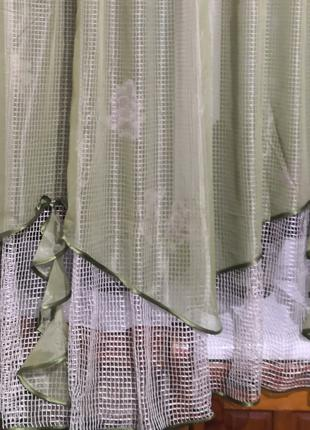 Занавеска штора тюль сплошная