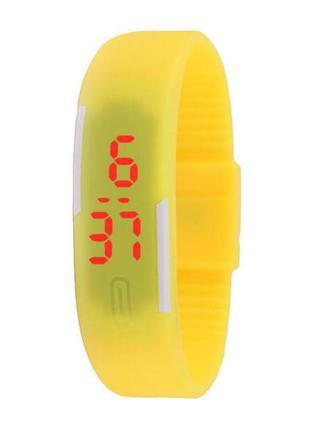 Водостойкий силиконовый браслет-часы