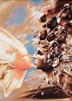 Картина из янтаря на хосте 40*60см