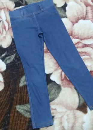 Стрейчевые джинсовые лосины на 5-6 лет