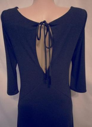 Распродажа! черное платье с разрезом на спинке