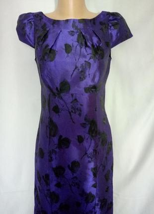 Распродажа!  элегантное платье по фигуре из ткани фиолетового ...