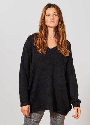 Полушерстяной свитер, пуловер, оверсайз, большой размер apart ...
