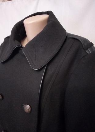 Распродажа!  стильное качественное двубортное пальто, большой ...