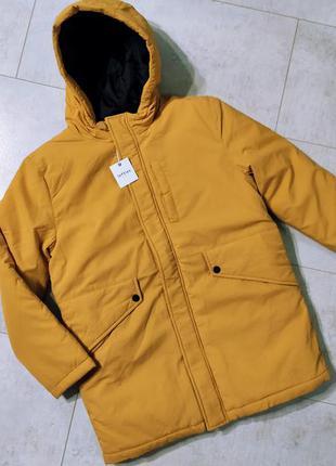 Теплая длинная куртка на мальчика, зимняя куртка