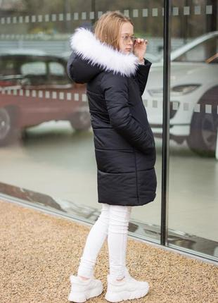 Куртка зимняя ( пальто) для девочек черная