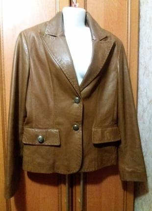 Шикарная кожаная куртка. пиджак