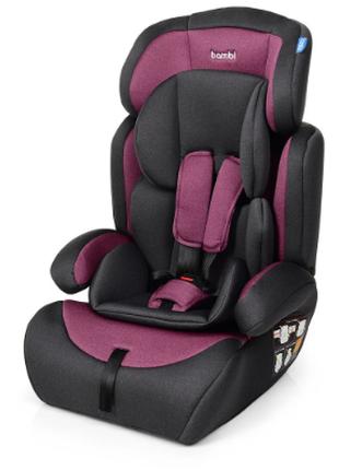 Детское автокресло (от 9 до 36 кг) bambi m 3546 pink gray