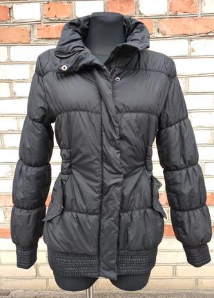 Куртка женская демисезонная утепленная на синтепоне  черная