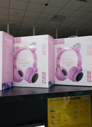 Беспроводная Bluetooth-гарнитура Hoco W27 Cat ear, Pink