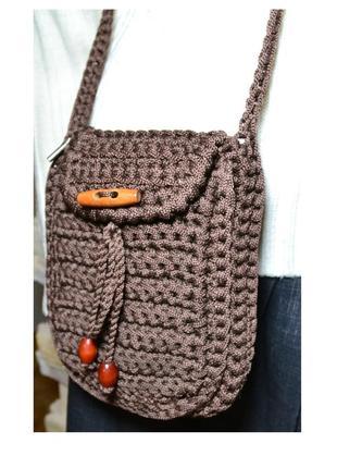 Оригинальная вязанная сумка кросс боди