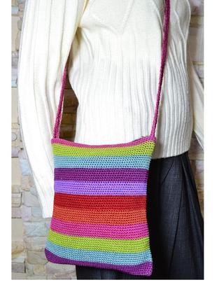 Оригинальная вязанная сумка кросс боди ручной работы