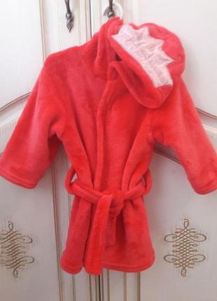 Махровый халат теплый халатик для девочки