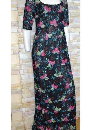 Роскошное макси-платье платье ручной работы дизайнера liz malr...