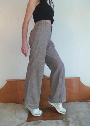 Стильные брюки в клетку gap размер m-l