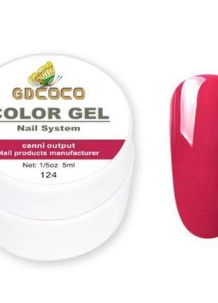 Цветной гель, гель-краска gdcoco № 124