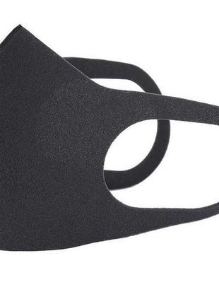 Маска защитная Питта многоразовая, неопреновая,черная без принта