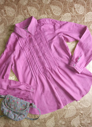 Рубашка блуза розовая Esprit р.46-48,М,UK12