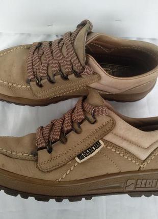 Туфли кожаные «scarpa» италия р.37 женские демисезон полуботинки