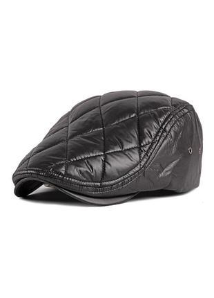 Кепка мужская плащевка черная