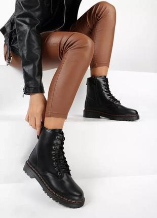 Ботинки женские черные демисезонные в стиле бренда