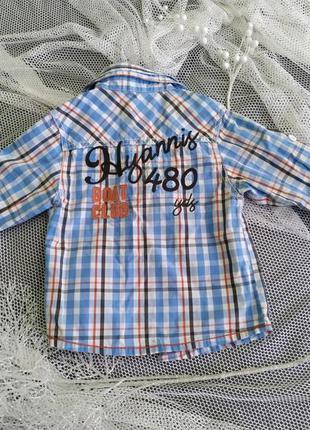 Рубашка для мальчика ministars, 100% котон, 1,5-3 года