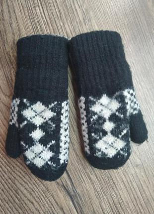 Варежки рукавицы теплые на 1-3 года