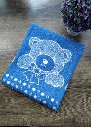 Плед шерстяной детский одеяло с мишками