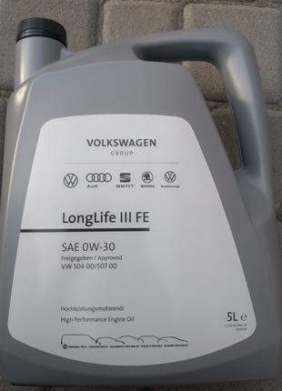 Оригінальне масло VAG 0w30 5л заміна 5w30