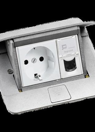 54010 Legrand Выдвижной розеточный блок в стол или пол алюминий