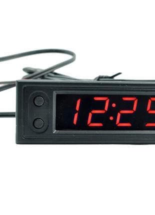Врезные автомобильные часы / вольтметр / 2 датчика температуры