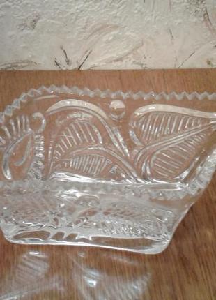 Хрустальная ваза-салатница
