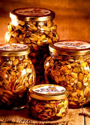 Тыквенные семечки в мёде/Зёрна тыквы в меду/Орехи/Семечки в меду