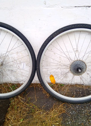 Колеса в зборі, під диск або v brake, 28 дюймів