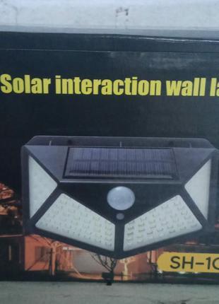 Уличный фонарь 100 Led светильник Solar с датчиком движения SH...