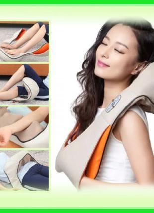 Роликовый массажер для шеи, плеч и бедер с ИК-прогревом Massag...